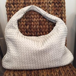 Authentic Timmy Woods Leather Purse White Medium